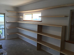 Display shelving for business.