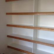 Oak Faced Shelves