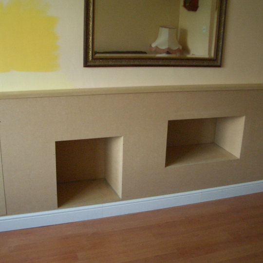 Bare MDF Cabinet (Ready to Paint)