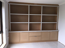 Shelving and cabinets for office.