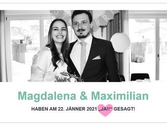 """Magdalena & Maximilian haben """"JA"""" gesagt!"""