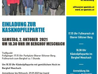 Käsknöpflepartie am Samstag, 2. Oktober im Berghof Meschach