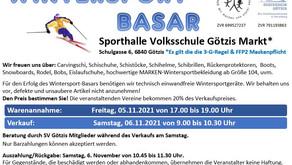 Wintersportbasar Annahme am Freitag, 05.11.2021 - Verkauf am Samstag, 06.11.2021