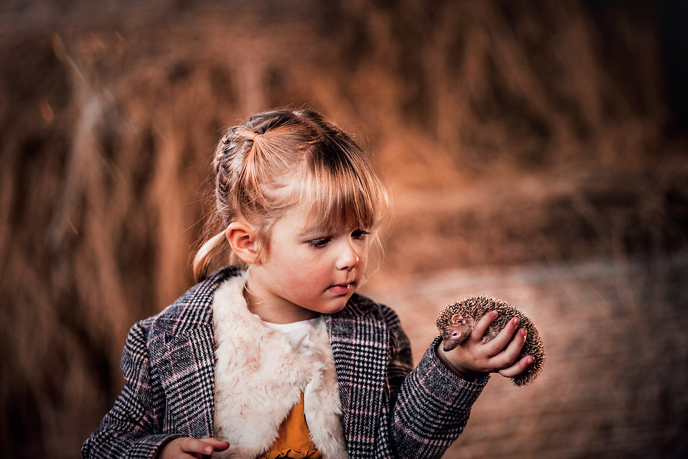 sugar moon magical portrait photography family children portrait tenrec hedgehog animal