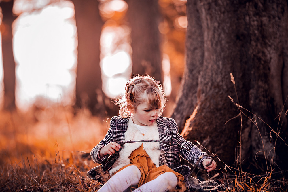 magical woodland portrait girl forest sugar moon photography family woodland