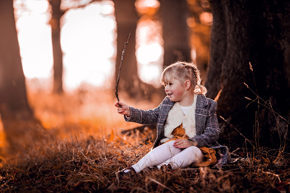 sugar moon magical woodland portrait photography outdoor forest family children fine art cute
