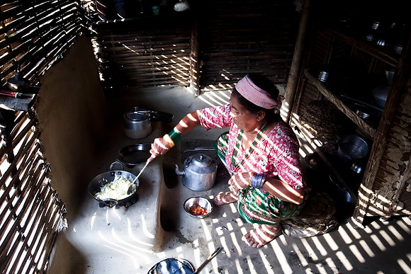 My Aunt Cooking Curry by Bhim Bhattarai