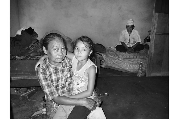 Family in Hut by Keshabi Neupane