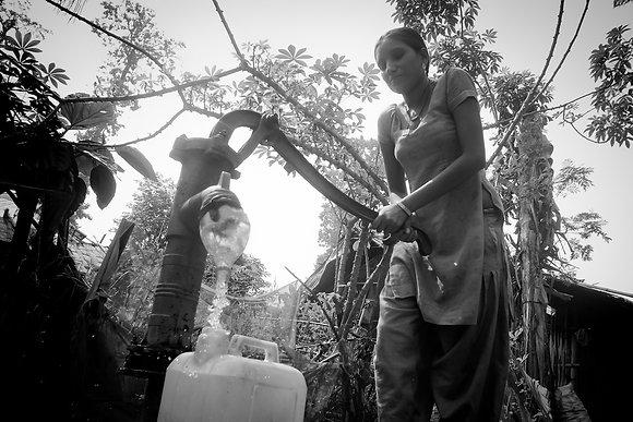 Fetching Water in Beldangi - Mohan Rai