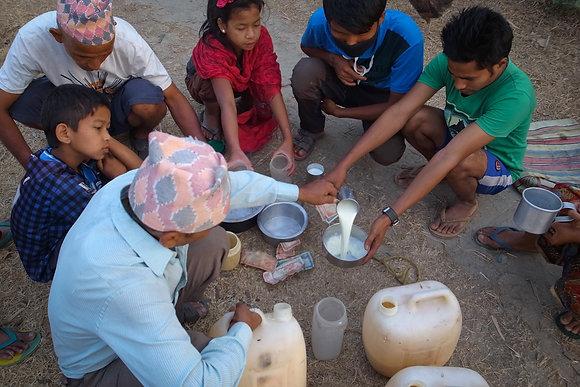Sharing Milk by Bhawani Dahal