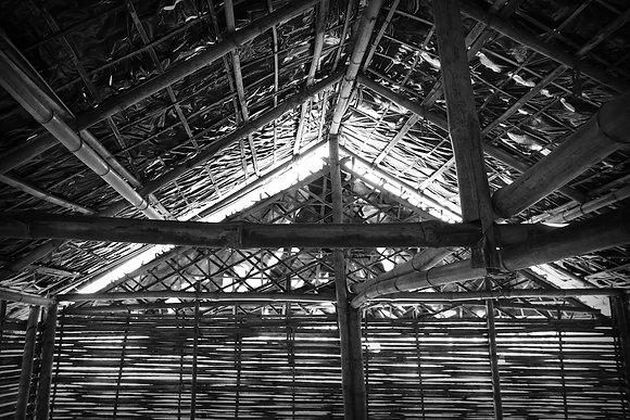 Ceiling of Beldangi Hut - by Bhawani Dahal