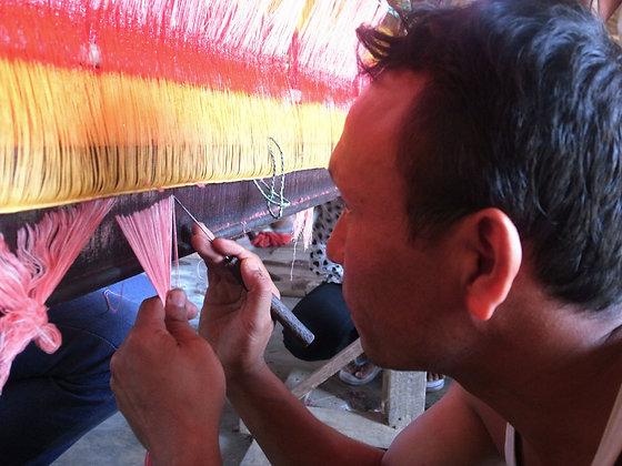 Details of Dhaka Weaving by Kalpana Rai