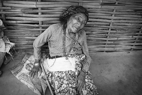 Old Woman by Krishna