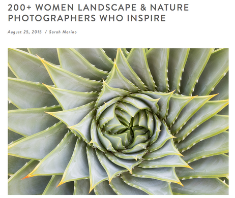"Thank You! ""200+ Women Landscape & Nature Photographers Who Inspire"""