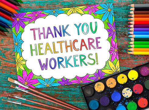 thank you healthcare workers colouring p