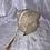 Thumbnail: Trousse et 8 cotons démaquillant lavables Fleurs ocre et doré