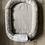 Thumbnail: Babynest nid bébé gris avec Topponcino et sa housse pois argenté