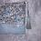 Thumbnail: Petit Pochette Fleurs bleu et beige