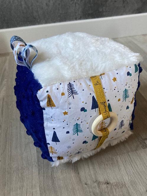 Cube d'activité sapin bleu roi