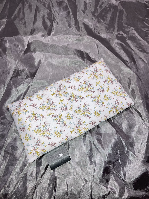 Petite bouillotte sèche graine de lin bio fleurs