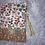 Thumbnail: Petit Pochette Fleurs kaki et ocre