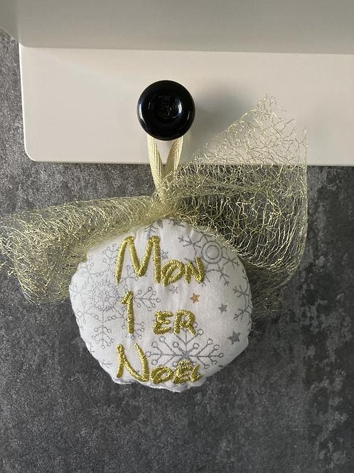 """Boule """"Mon 1er Noël"""" Doré"""