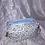 Thumbnail: Trousse double zip fleurs bleu et marron
