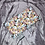 Thumbnail: Petite bouillotte sèche graine de lin bio fleur vert et violette