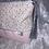 Thumbnail: Trousse Fleurs rose clair et kaki et simili rose
