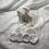 Thumbnail: Trousse et 8 cotons démaquillant lavables fleurs et feuilles rose thé