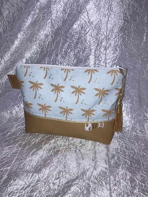 Trousse palmier et simili doré
