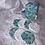 Thumbnail: Trousse et 8 cotons démaquillant lavables Fleurs bleu et doré
