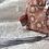 Thumbnail: Trousse et 8 cotons démaquillant lavables rose saumon motif asanoha