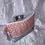 Thumbnail: Trousse Saumon motif asanoha et simili argenté