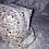 Thumbnail: Trousse double zip fleurs rose et marron