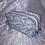 Thumbnail: Trousse double zip fleurs bleu et beige