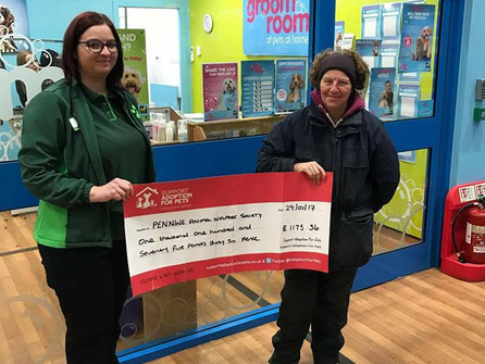 Pets At Home Rochdale Raise over £1100 for PAWS