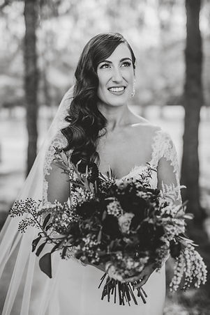 Bridal Hairdresser Sydney, Hunter Valley Bride, Long curls, side part, Newcastle weddings, Sydney wedding hairstylist
