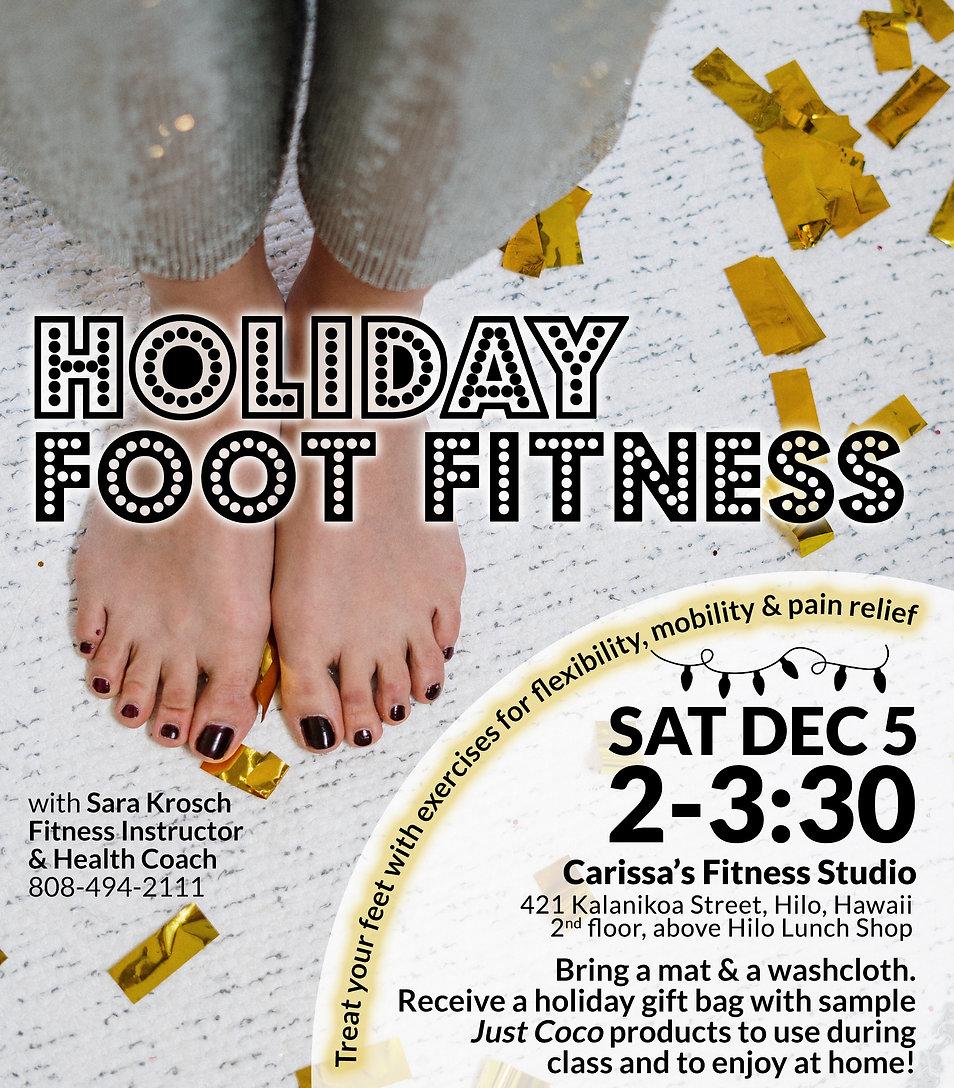 Carissa's Fitness Studio - Holiday Foot Fitness Workshop - December 5, 2020