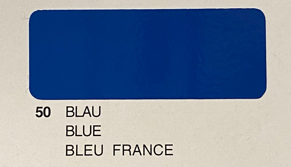 Oracover couleurs standard bleu france 50