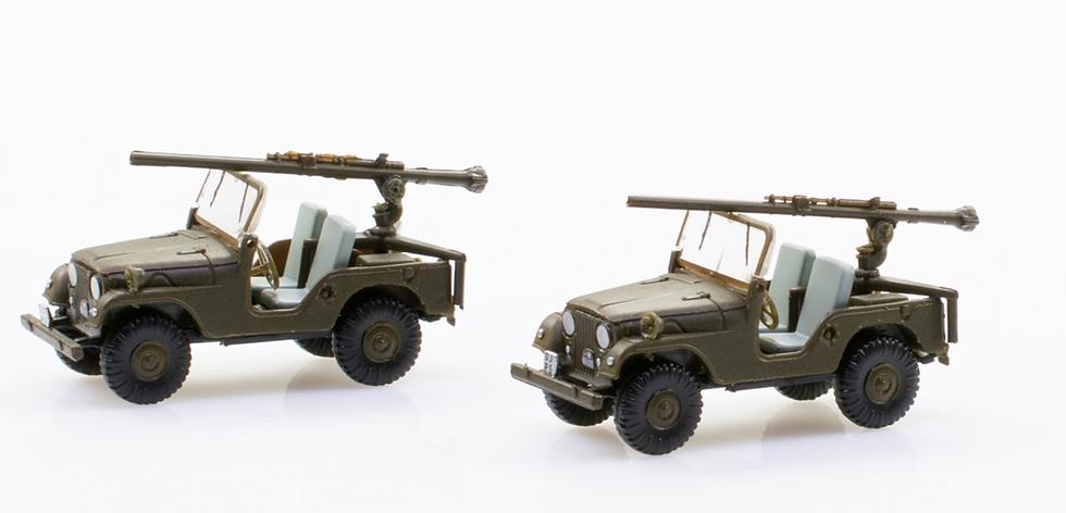ACE collectors edition 2 Jeep PAK58-Panzer Abwehr Kompanie-BAT en Plastique 1:87