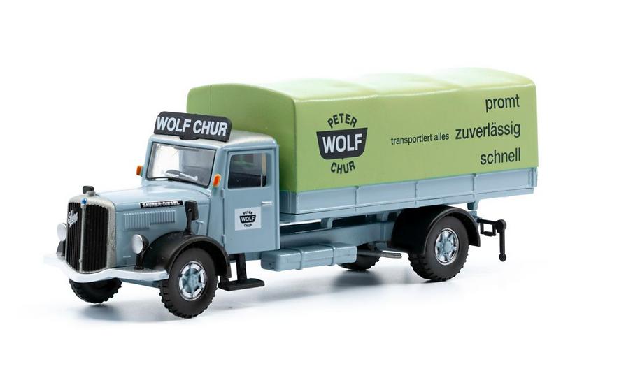 ACE collectors edition Saurer S4C Plane Wolf Chur en Plastique 1:87