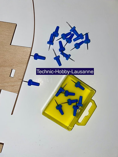 Epingles renforcées pour construction de modèles réduits