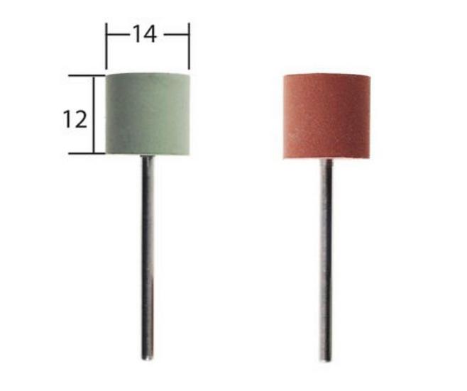 Proxxon Polissoirs élastiques, cylindre, 2 pces 14x12mm