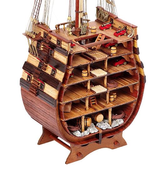 Maquette de bateau en bois à construire coupe du SANTISIMA TRINIDAD OCCRE 16800