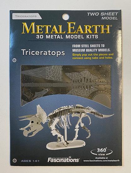Metal Earth Triceratops Skeleton