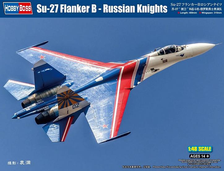 Hobby Boss Su-27 Flanker B - Russian Knights 1/48 81776