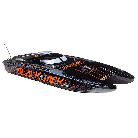 "Blackjack 42"" 8S Brushless Catamaran RTR: Black/Orange PRB08043T1"