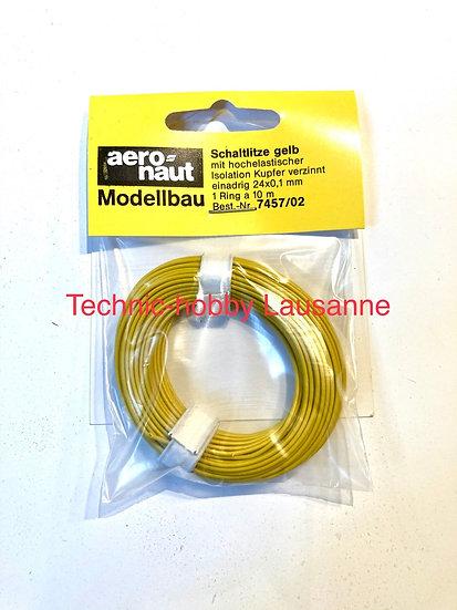 Câble électrique Jaune - 24x0.1m