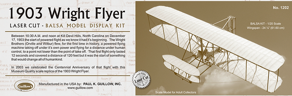 Guillow's 1903 Wright Flyer